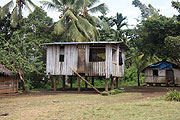 Typical Guadalcanal hut- Photo by John Shively
